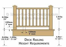 Deck Railing Height Diagrams Code Tips Deck Railing Height Deck Railings Wood Deck Railing