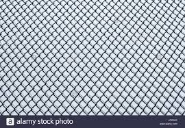 Black Small Chain Link Fence Covered In Ice On White Background Stock Photo Alamy