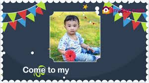first birthday invitation whatsapp