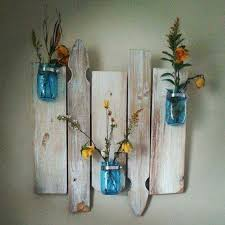 Repurposed Barnwood And Picket Fence Mason Jar Wall Decor This One By Bytheriversidecrafts Etsy Not Availa Picket Fence Crafts Fence Post Crafts Fence Decor