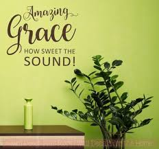 Amazing Grace Square Vinyl Letters Religious Kitchen Wall Decals Sticker
