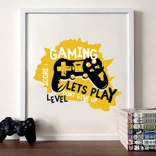 Mega Discount 126343 Joypad Gaming Illustration Poster Boys Wall Art Canvas Prints Gaming Let S Play Art Painting Picture Kids Room Wall Decor Cicig Co
