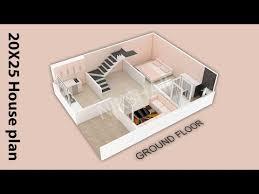 500 sqft design 20x25 house plan 3d map