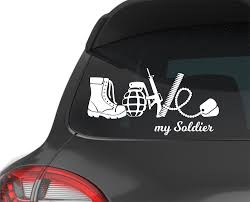 Military Branch Soldier Army Mom Girlfriend Wife Spouse Love Decals For Cars Car Stickers Monograms Viny Planner Covers Diy Pattern Decal Ipad Decal