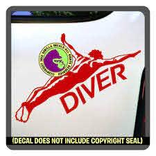 Amazon Com Diver Male 2 Springboard Diving Love Dive Vinyl Decal Sticker H Handmade