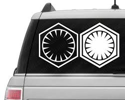 Star Wars The Force Awakens Inspired First Order Vinyl Decal First Order Decal Force Awakens Decal Star Wars Decal Star Wars Decal Vinyl Decals Vinyl