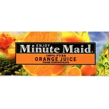 minute maid orange juice label