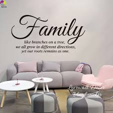 Family Like A Branch On A Tree Quote Wall Sticker Living Room Bedroom Family Inspiration Motivation Sign Wall Decal Sofa Vinyl Wall Decals Living Roomwall Decals Tree Branches Aliexpress