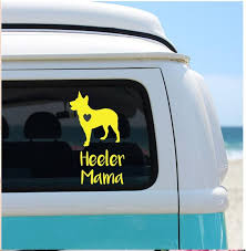 Blue Heeler Catahoula Customized Vinyl Decal Decal For Car Etsy