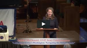 "Deirdre McDonald, EVP of Sony Music Entertainment, ""Lobbying in Today's  Washington: Navigating the Shifting Sands"" on Vimeo"