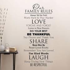 Wall Quote Decal Our Family House Rules Home Love Do Your Best Etsy Family Rules Wall Quotes Decals Wall Quotes