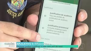 Inter TV Notícia | Eleitores podem justificar o voto sem sair de casa
