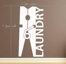 Laundry Decor Large Clothespin Vinyl Wall Art By Householdwords 39 00 Wall Vinyl Decor Laundry Room Decals Laundry Room Wall Decor