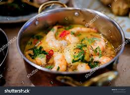 Portuguese Seafood Dish Rice Shrimps ...