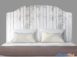 Distressed White Wooden Fence Headboard Decal Graphic Vinyl Sticker Bedroom Wall Home Decor