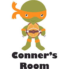 Teenage Mutant Ninja Turtles Michelangelo Customized Wall Decal Custom Vinyl Wall Art Personalized Name Baby Girls Boys Kids Bedroom Decal Room Decor Wall Stickers Decoration Size 30x15 Inch