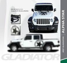 Jeep Gladiator Hood Decals Jeep Wrangler Gladiator Stripes Alpha Hood