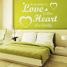 Shop Quote A Mother S Love Is The Heart Of A Family Vinyl Sticker Interior Mural Nursery Decor Sticker Decal Size 22x30 Color White Overstock 14766182