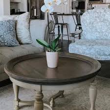 amelia shadow gray round coffee table