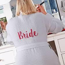 bridal waffle dressing gown