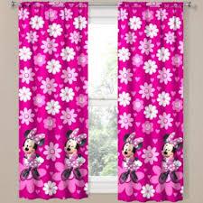 Disney Minnie Mouse Home Rod Pocket Curtain Panel Rod Pocket Curtain Panels Minnie Mouse Bedroom Panel Curtains