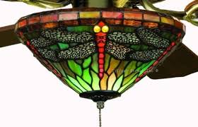 tiffany stained glass ceiling fan