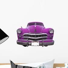 Pink Oldtimer Car Cuba Wall Decal Wallmonkeys Com