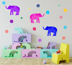 Elephant Wall Decals Bubble Wall Stickers Fabric Wall Etsy
