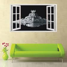 Spaceship Wall Stickers 3d Mural Home Decor Art Wall Decals Decor Kids Room Sticker Removable Wallpaper Quarto Sticker Remover Removable Wallpaperspaceship Wall Stickers Aliexpress