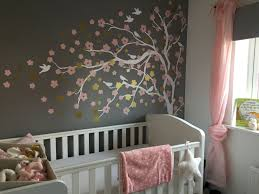 Baby Girl Grey Pink White Gold Nursery Blossom Tree Wall Sticker Pink Bedroom For Girls Girl Room Pink Bedroom Decor