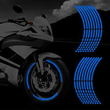 Amazon Com Tomall 16 Reflective Wheel Rim Stripe Decal For Motorcycle Wheels Car Cycling Bike Bicycle Night Reflective Safety Decoration Stripe Universal Rim Reflective Stickers Diy Blue Automotive