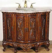 solid wood tuscan style bathroom vanity