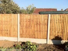Fencing Supplied And Fitted Fence Panels Concrete Posts Gravel Boards Ebay Concrete Posts Fence Design Modern Fence