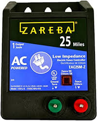 Amazon Com Zareba Eac25mz 25 Miles Ac Low Impedance Electric Fence Charger Powers Up To 25 Miles Of Fence Low Impedence Design Maintains Maximum Energy On Fence Works In Heavy Weed Condition Made