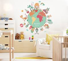 Best Discount Ceb5f World Map Animals Wall Stickers Room Decorations Diy Cartoon Children Home Decals Kids Room Decoration Mural Art Cicig Co