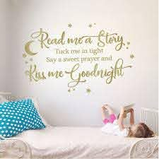 Read Me A Story Kiss Me Goodnight Kids Room Vinyl Wall Decal Sticker The Decal Guru