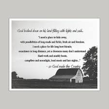 God Made The Country Art Print Wall Decor Stickers