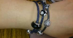 moments double woven leather bracelet