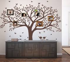 Amazon Com Lskoo Family Photo Frame Tree Wall Decals Family Tree Decal Living Room Home Decor 108 Wide X 84 Tall Brown Home Kitchen