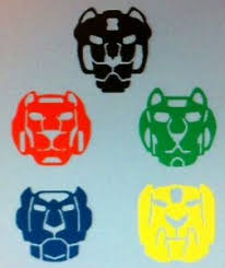 Voltron Lions 1 Set Of 5 Vinyl Decals Ebay