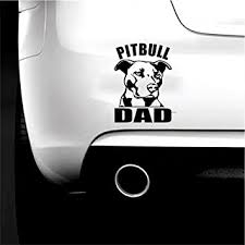 Amazon Com Boilipoint 2pcs Car Window Decal Laptop Truck Outdoor Sticker Pitbull Dad Vinyl Decal Sticker Car Window Bumper Wall I Love My Rescue Dog Automotive
