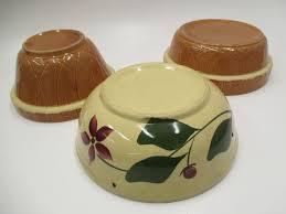 3 oven ware mixing bowls fl usa