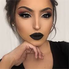 makeup ideas for black eyes cat eye