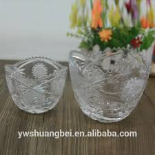 whole clear round fruit glass bowl