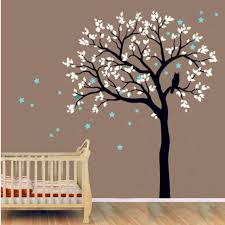 Kids Baby Large Tree Wall Decal Vinyl Sticker Owls On The Tree With Star Wall Murals Tree Wall Decal For Kids Bedroom Decory 935 Stickers Owl Vinyl Stickerstree Wall Decal Aliexpress