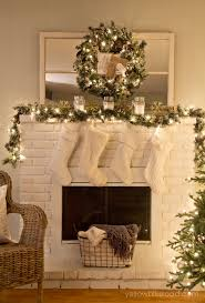 rustic glam tree and mantel