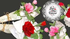 طريقة عمل بوكيه ورد بلدي شبه الورد الحقيقي بالظبط مشروع هدايا