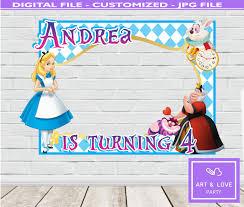 Alicia En El Pais De Las Maravillas Cumpleanos Disney Marco De