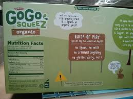 gogo squeez organic applesauce