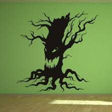 Scary Halloween Tree Wall Art Sticker Wall Decals Halloween Seasonal Halloween Wall Art Halloween Decals Halloween Trees
